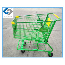 180L Hand Push Shopping Trolley with America Style