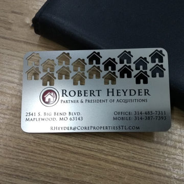 OEM Custom Design Logo Metal Business Name Cards