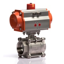 Edelstahl-materielle pneumatische Steuerung 3 PCS-Kugelventil