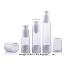 Frosted Clear Airless Bottle for Cosmetic Packaging