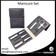 Set de manicura de lujo, kit de manicura de alta calidad con funda de cuero