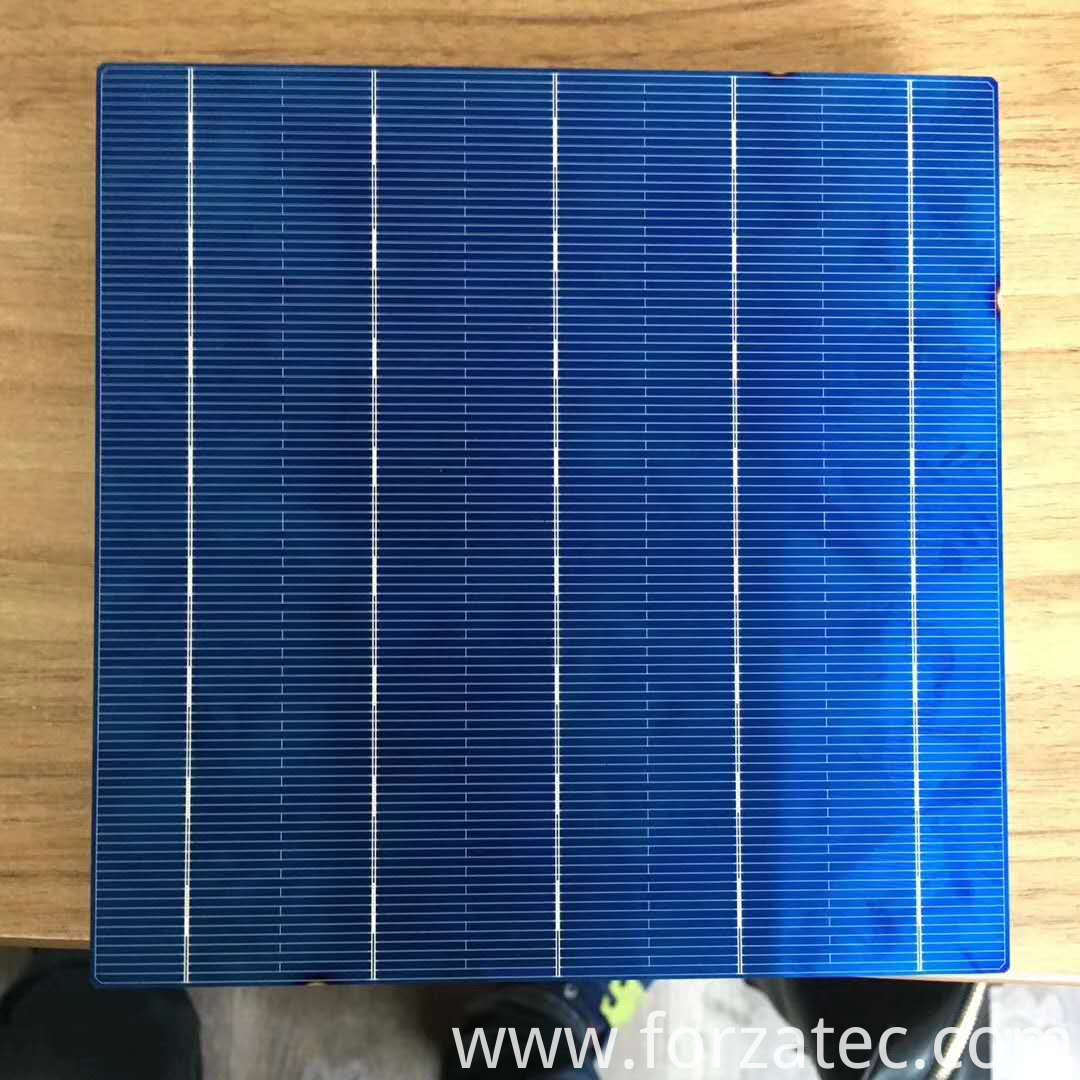 Poly solar cell of high efficiency