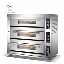 3 deck 9trays/gas oven/pizza oven/toasting machine