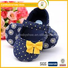 2015 kids shoes best selling high quality low price and fashion white dot yellow flower dress baby shoes                                                                         Quality Choice