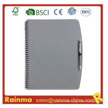 Gery PVC Cover Notebook for School and Office Supply