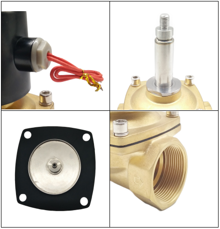 2/2 Way NBR Seals Brass Body Electric Solenoid Valve