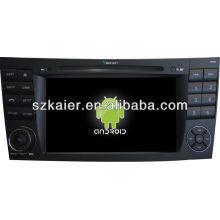 Android System lecteur DVD de voiture pour Benz ancien E avec GPS, Bluetooth, 3G, ipod, jeux, double zone, contrôle du volant