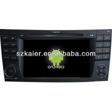 Система андроида автомобиля DVD-плеер для Benz старый e с GPS,есть Bluetooth,3G и iPod,игры,двойной зоны,управления рулевого колеса