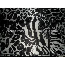 Polyester Graffiti gedruckt Stretch Satin-Stoff für Lady Kleid
