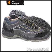 PU Injection Suede Leather Safety Shoe with Steel Toe (SN5398)