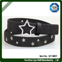 Factory Glitter Metal PU Belt