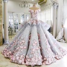 Vestido de casamento romântico por atacado, vestido de noiva, vestido de noiva AS 044