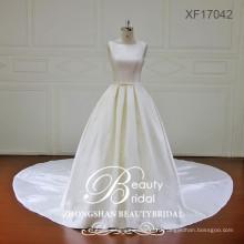 последняя мода прозрачная задняя крышка высокое качество микадо свадебные платья с длинным шлейфом