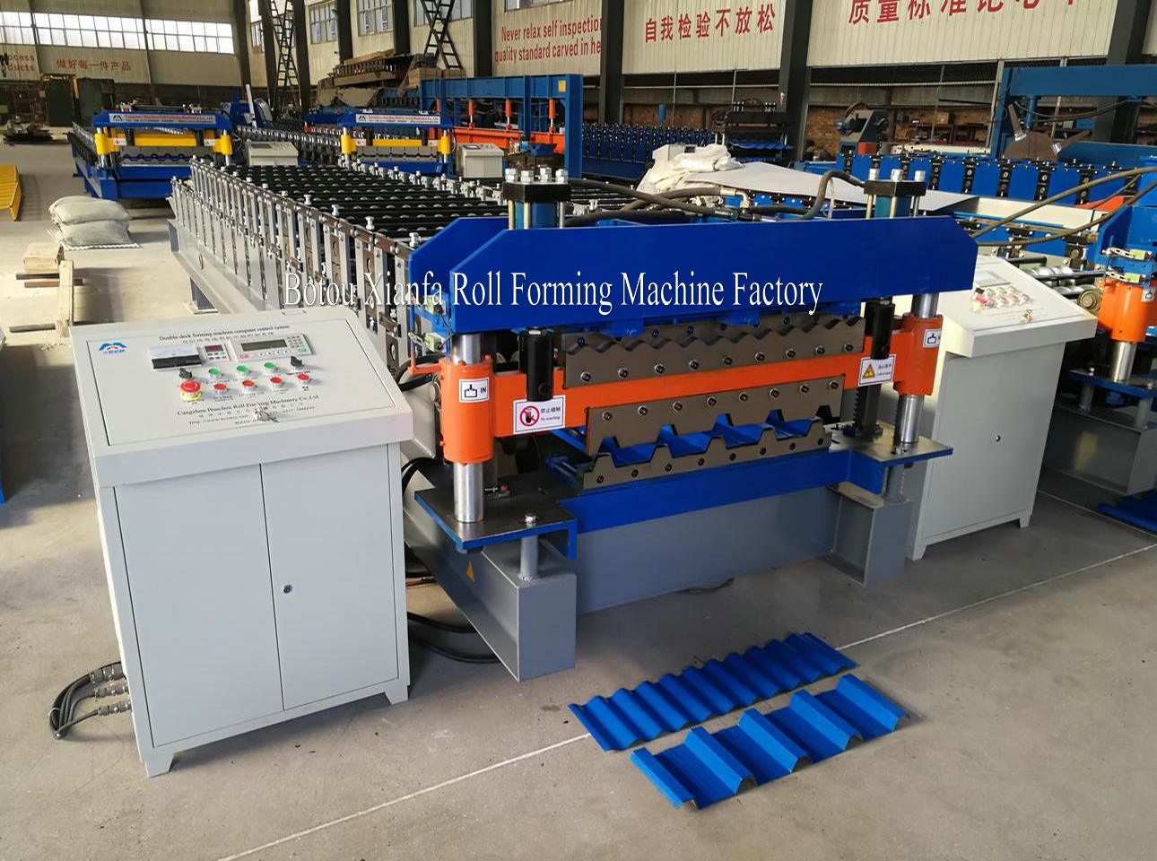 top double deck roll forming machine