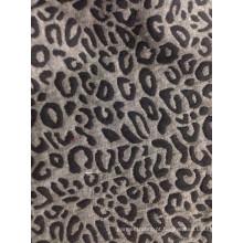 Tecido jacquard clássico com design de pele de leopardo T / C