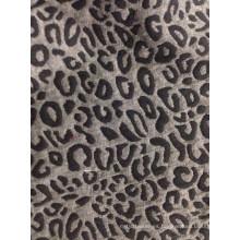 Tejido jacquard clásico con diseño de piel de leopardo T / C
