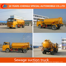 Shacman 4X2 Sewage Suction Truck 10cbm Vacuum Suction Truck