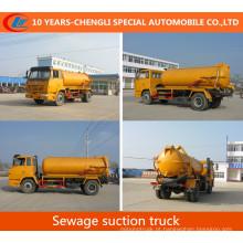 Caminhão da sução do vácuo do caminhão 10cbm da sucção da água de esgoto de Shacman 4X2