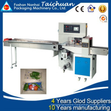 TCZB-250 down paper Automatic horizontal flow pack fresh vegetable packing machine price