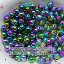New Arrival for acrylic opaque round beads Multicolored jewelry shinny ball acrylic beads supply to Australia Wholesale