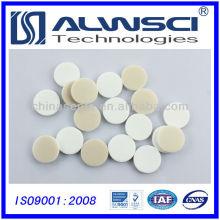 20 * 3mm natürliche PTFE weiße Silikon Septa für 20mm Aluminium Kappe