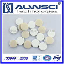 20*3mm natural PTFE white silicone septa for 20mm aluminum cap