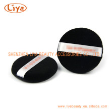 Black Cosmetic Cotton Puffs With Custom Logo