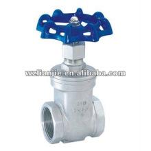 CF8/SS304 femelle fileté inox robinet-vanne