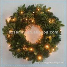 Декоративный Рождественский венок с светодиодные фонари