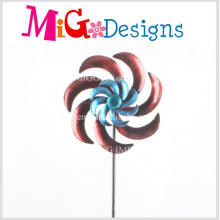 High Quality Metal Flower Design Wind Spinner Garden Stake