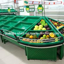 Металл и фруктов хранение овощей, Стеллаж для выставки товаров для супермаркета