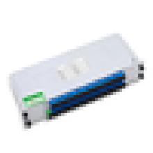 1 * 32 Fibre optique de type insertion FLC, FTTH Monomode SC1 * 4 1 * 8 1 * 16 Blade Insertion Module Fiber Optical PLC Splitter