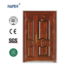 New Design and High Quality Mother Son Steel Door (RA-S156)