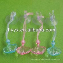 Perles acryliques coeur pour la décoration de bébé
