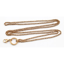 Hot Selling Rose Gold Plated 3mm Pearl Chain