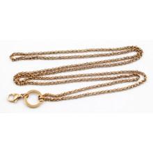 Горячее продавая розовое золото покрыло цепь перлы 3mm