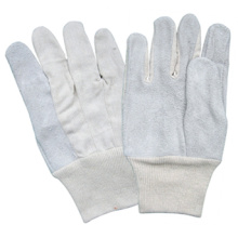 Корова Сплит Кожаный Запястье Руки Knit Перчатки Усиленные Индекс