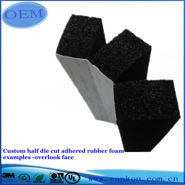 Custom half die cut adhesive rubber foam examples -side face (4)