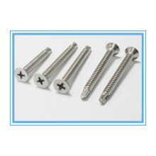 Stainless Steel Phillip Flat Head Self Drilling Screw (DIN7504P)
