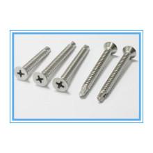 Нержавеющая сталь Phillip Плоский головной самосверляющийся винт (DIN7504P)