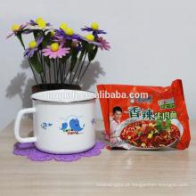 Esmalte personalizado leite e chá canecas