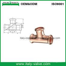 Cobre Igual Press Tee para sistema de calefacción (AV8053)