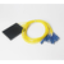FTTH ABS box Optic 1x8 PLC Splitter с кабелем G657A, PLC SC UPC / APC оптоволоконный сплиттер