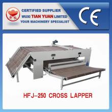 Máquina de dobramento transversal não tecida da camada da fibra de poliéster
