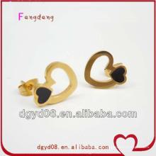 2013 Boucles d'oreilles en or les plus vendues, dernière boucle d'oreille en acier inoxydable