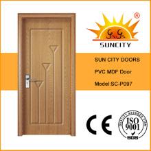 Город солнца хорошие продажи ПВХ двери модель (СК-P097)