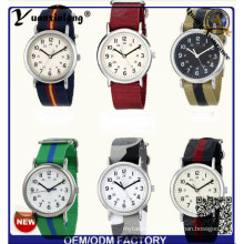 Yxl-123 Einfache Design Nylon Nato Damen Kleid Uhr Quarz Sport Casual Armbanduhr Dame Vogue Männer Uhren Fabrik