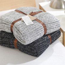 100% Cotton Cable Knit Throw Blanket Super Soft Warm Multi Color