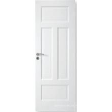 Puerta compuesta blanca modificada para requisitos particulares vendedora caliente del MDF, puerta primed blanca