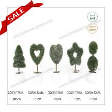 H10-19cm personalizó la decoración artificial casera de la palmera PE + PVC del topiary